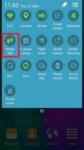 enable  disable mobile data samsung support uk