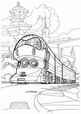Coloring Train Tech Pages sketch template