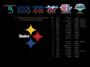 Pittsburgh Steelers Schedule Desktop Wallpaper
