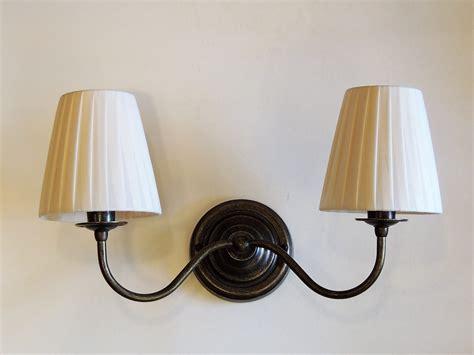 applique con paralume applique doppia con paralume illuminazione