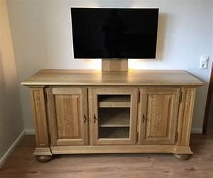 Moderne Tv Möbel : tv fernsehanrichte lowboard in eiche massiv gelaugt ~ Michelbontemps.com Haus und Dekorationen