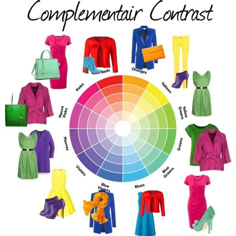 fashion color wheel complementair contrast en 2019 styling tips fashion