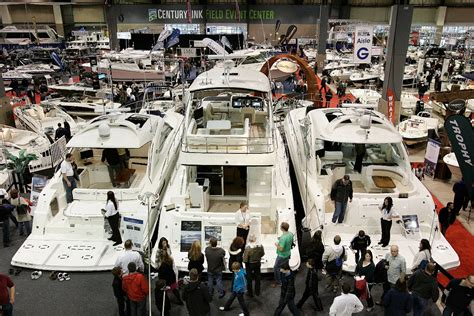 Great Seattle Boat Show by Reporting Live Ish From The West Coast S Largest Boat Show