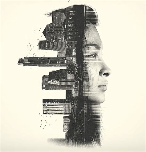 stunning double exposure photoshop actions pixel curse
