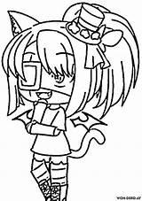 Gacha Coloring Coloriage Anime Imprimer Popular sketch template