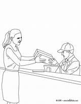 Cartero Correios Postman Correos Profesiones Oficinas Oficios Hellokids Postbote Cowdog Tudodesenhos Colorings Coloringhome sketch template