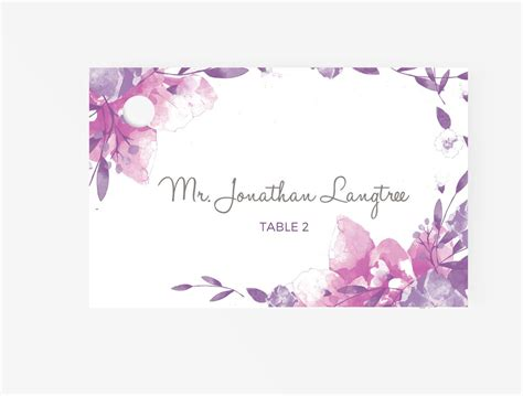 wedding escortplace cards editable ms word template diy