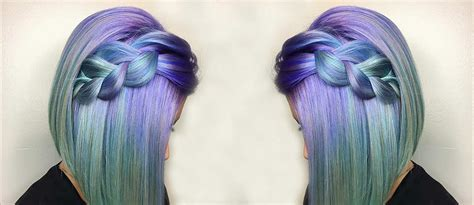 inspirational ideas  braid  purple hair