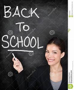 Back To School Chalkboard Blackboard Teacher Stock Photo ...