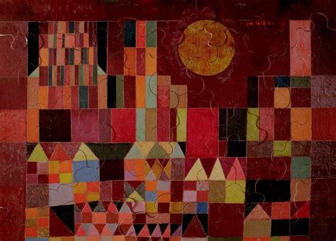 paul klee castle  sun art wooden puzzle  pieces
