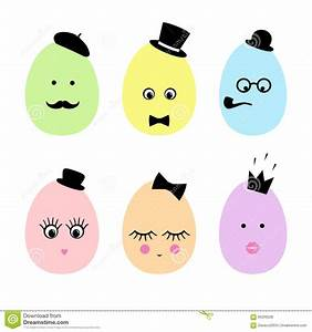 Cute Happy Easter Card Illustration. Stock Vector - Image ...