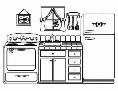 Coloring Kitchen Pages Template Pot Templates