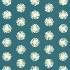 Papier Peint Bleu Canard : papier peint intiss motif de pompons fond bleu canard ~ Farleysfitness.com Idées de Décoration