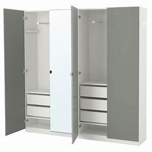 Armoire Peu Profonde : pax armoire penderie blanc reinsvoll vikedal 200 x 38 x 201 cm ikea ~ Teatrodelosmanantiales.com Idées de Décoration