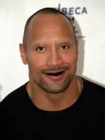 Dwayne Johnson without Teeth