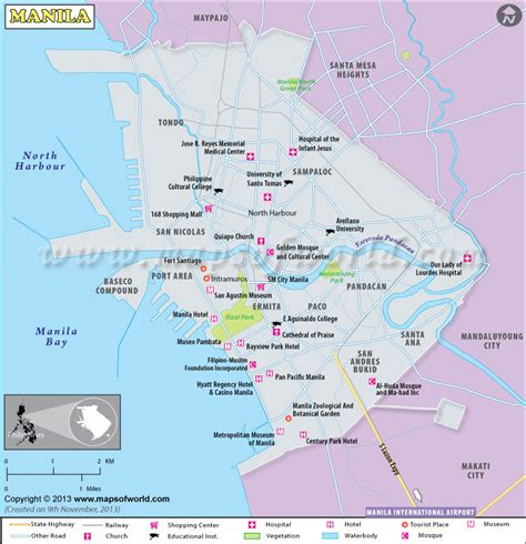 manila map tourist attractions travelquazcom