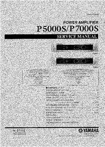 Yamaha P5000s P7000s Sm 1 Service Manual Download