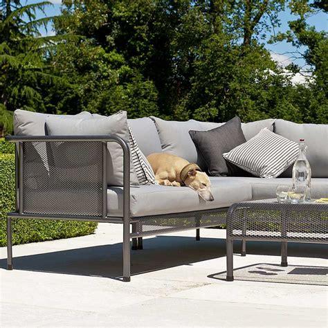 canap jardin design canapé de jardin avec coussins haut de gamme en acier pour