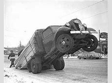 Overloaded Lumber Flatbed Truck 1940s 8x10 photo print