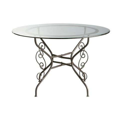 glass and iron table glass and wrought iron round dining table d 120cm toscane
