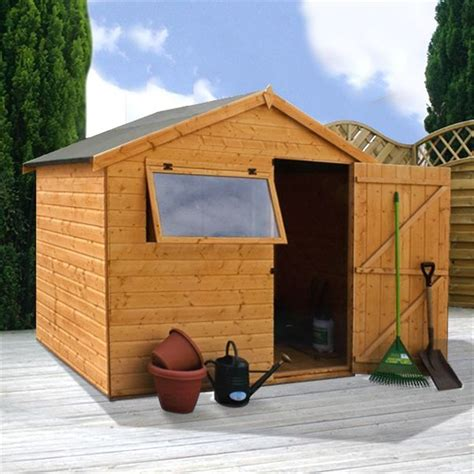 Wooden Shed Base 6 X 8 by 6 X 8 Tongue And Groove Apex Wooden Shed With 1