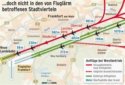 Fluglärm Frankfurt Karte