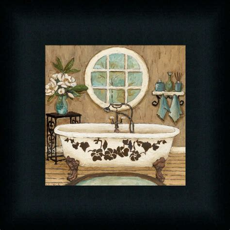 Country Inn Bath I Contemporary Bathroom Décor Framed Art