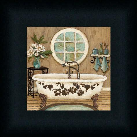 country inn bath  contemporary bathroom decor framed art