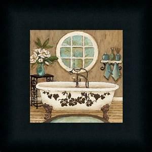 Country inn bath i contemporary bathroom decor framed art for Wall plaques for bathroom