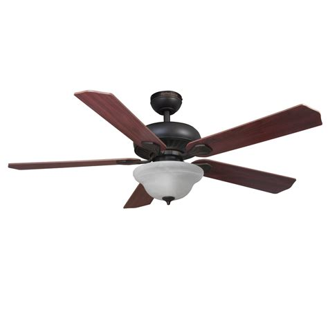 oil rubbed bronze ceiling fan with light flush mount shop harbor breeze crosswinds ii 52 in oil rubbed bronze