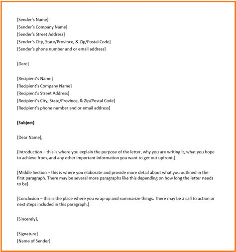format for a business letter business letter format overview structure and exle 30937