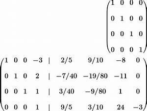 Einheitsmatrix Berechnen : inverse einer 4x4 matrix via gau jordan ~ Themetempest.com Abrechnung