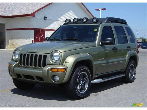 2003 Cactus Green Pearl Jeep Liberty Renegade 4x4