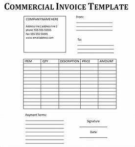 commercial invoice template fee download pdf With commercial invoice sample pdf