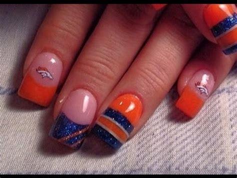 denver broncos nail designs denver bronco nails