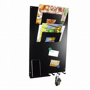 3 in 1 magnetic memo board letter rack and key holder With memo board with letters