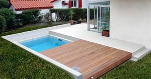 petite piscine pour petit jardin piscine pour petit With attractive terrasse en bois pour piscine hors sol 7 installer une mini piscine