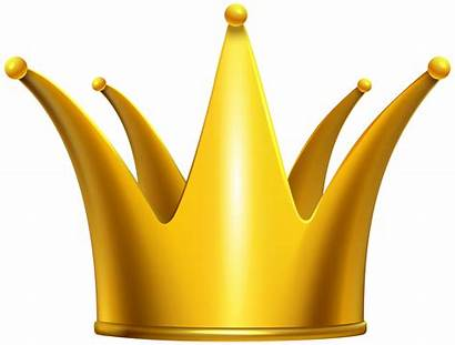 Crown Clipart Golden Gold Clip Crowns Background