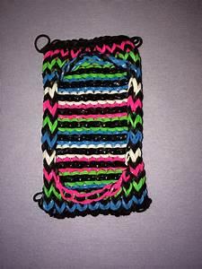 Rainbow loom cell phone case I made   Loom band ...