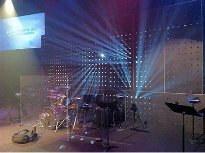 Stage Church Lighting Lights Simple Cool Beaming