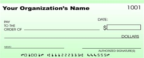 Full Page Blank Check Template