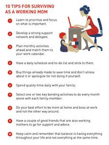 10 Tips for Working Mothers