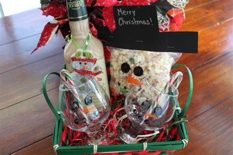 snowman themed gift baskets