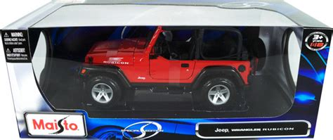 jeep wrangler rubicon red maisto  diecast car