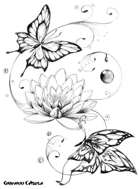 lotus flower butterfly tattoo - Google Search | Maybe... | Pinterest | Lotus flower, Lotus and
