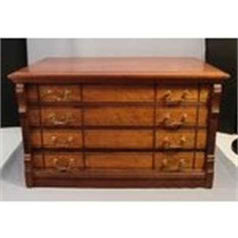 antique willimantic 4 drawer spool cabinet cherry maple