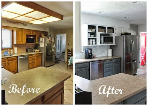 average cost of small kitchen remodel remodelaholic grey and white kitchen makeover
