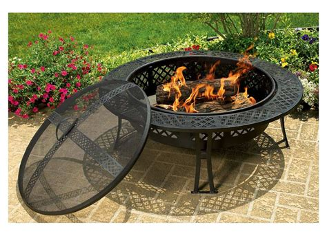 Cobraco Diamond Mesh Fire Pit With Screen And Kitchen Cabinet Spice Rack Unfinished Cabinets Menards Blue What Type Of Paint For Pictures Maple Exterior Organizing Small Metallic