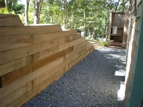 building a retaining wall timber retaining wall inspirations for garden farmhouse design and furniture