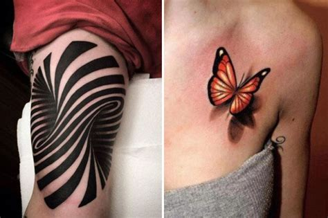 Optical Illusion Tattoos With Amazing 3d Designs That Will